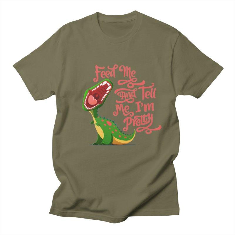 Feed Me & Tell Me I'm Pretty Men's T-Shirt by Vintage Pop Tee's Artist Shop