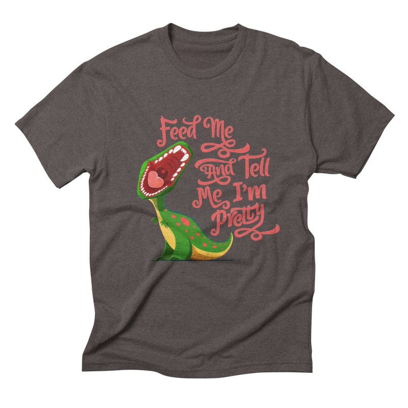 Feed Me & Tell Me I'm Pretty Men's Triblend T-shirt by Vintage Pop Tee's Artist Shop
