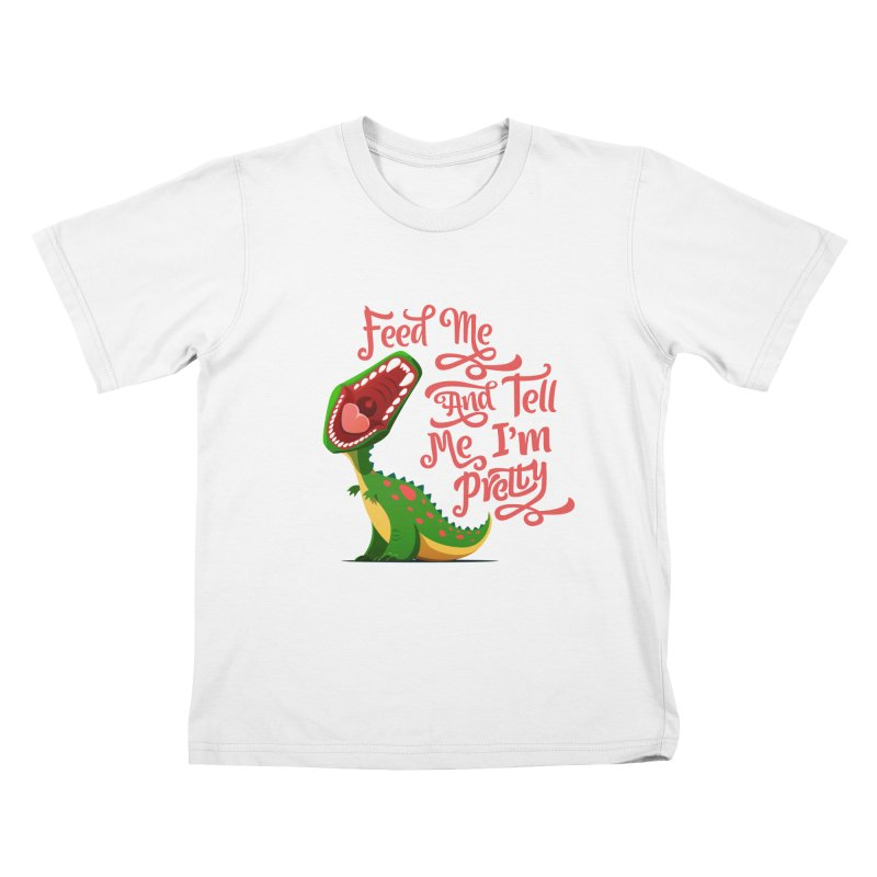 Feed Me & Tell Me I'm Pretty Kids  by Vintage Pop Tee's Artist Shop