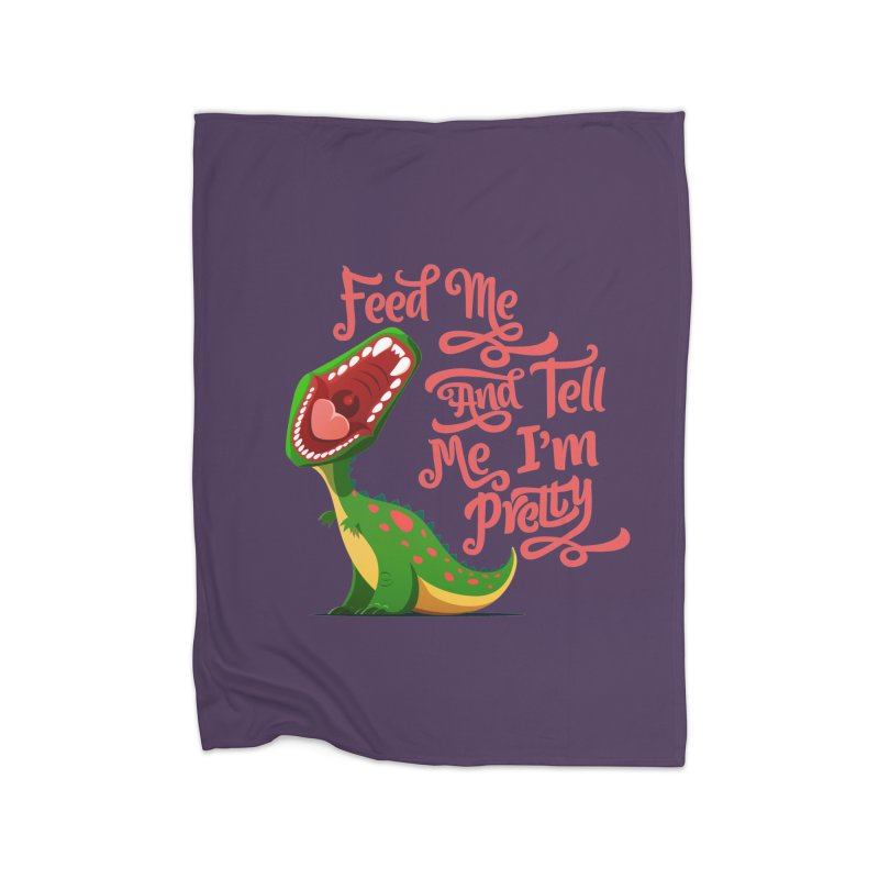 Feed Me & Tell Me I'm Pretty Home Blanket by Vintage Pop Tee's Artist Shop
