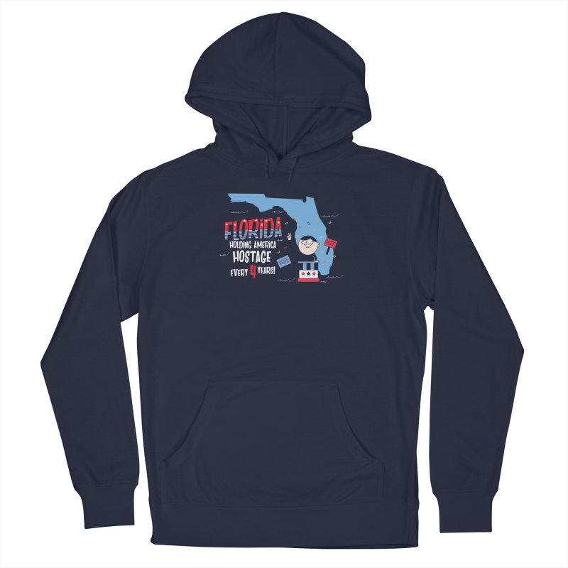 Florida: Holding America Hostage  Women's French Terry Pullover Hoody by Vintage Pop Tee's Artist Shop