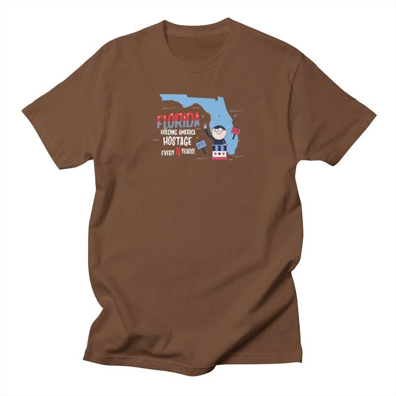 Florida: Holding America Hostage  Men's Regular T-Shirt by Vintage Pop Tee's Artist Shop