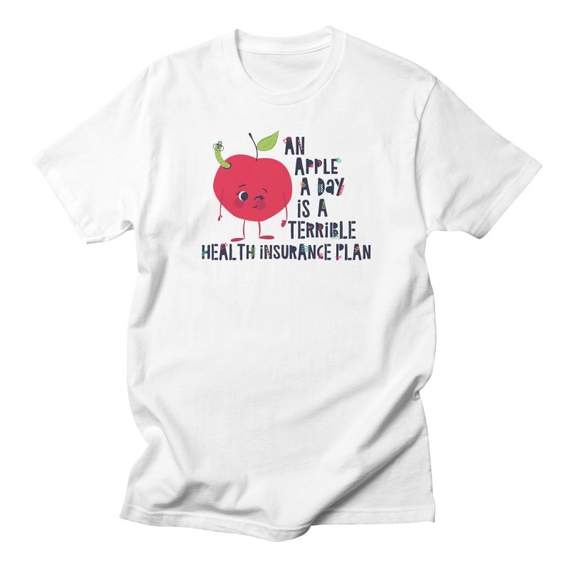 An Apple  A Day is a Terrible Health Insurance Plan Men's T-shirt by Vintage Pop Tee's Artist Shop