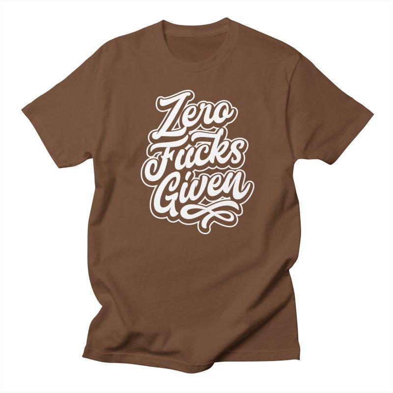 ZERO F%&KS GIVEN Men's T-Shirt by Vintage Pop Tee's Artist Shop