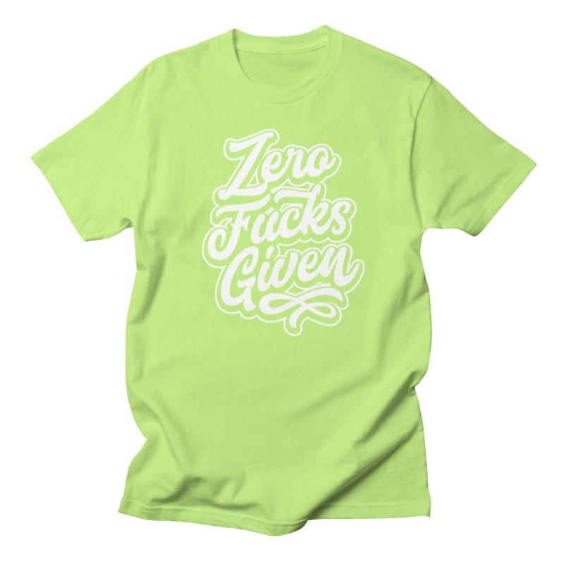 ZERO F%&KS GIVEN Women's Unisex T-Shirt by Vintage Pop Tee's Artist Shop