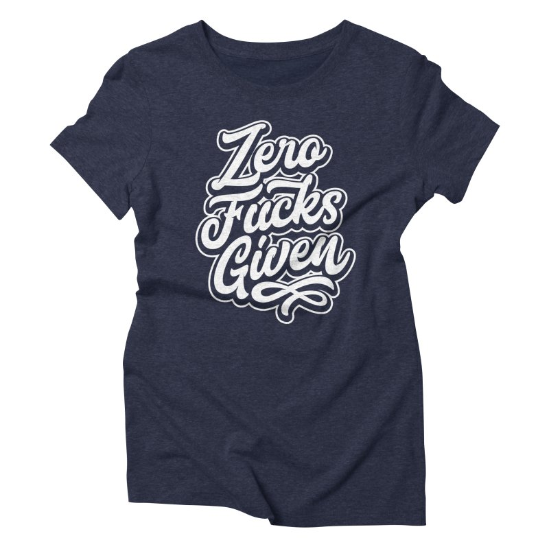 ZERO F%&KS GIVEN Women's Triblend T-shirt by Vintage Pop Tee's Artist Shop
