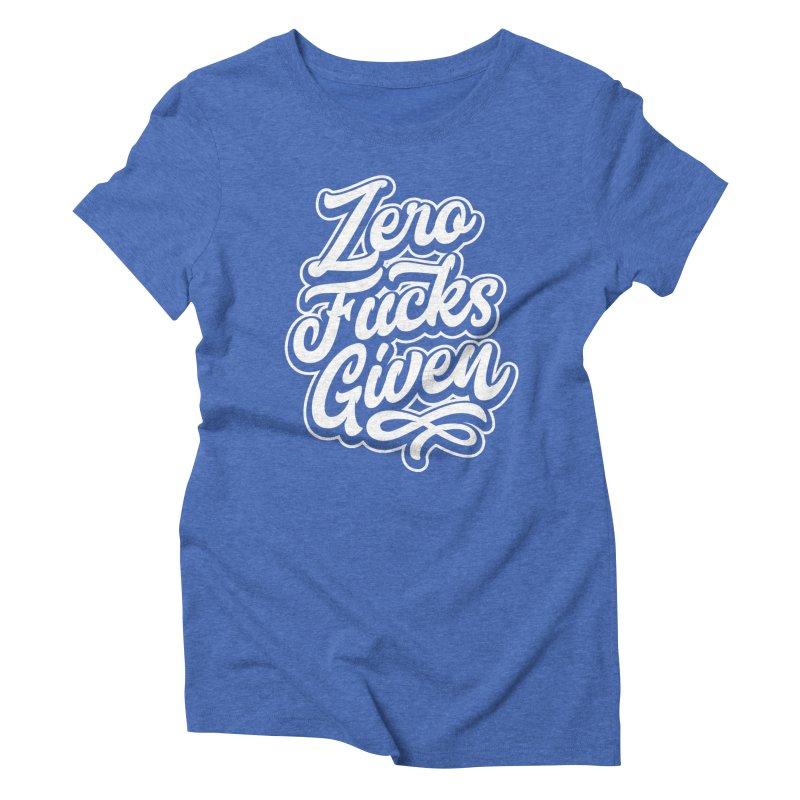 ZERO F%&KS GIVEN Women's Triblend T-Shirt by Vintage Pop Tee's Artist Shop