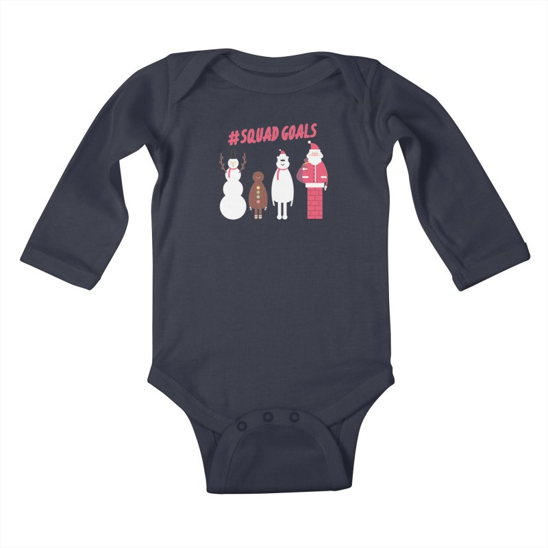 #SquadGoals Kids Baby Longsleeve Bodysuit by Vintage Pop Tee's Artist Shop