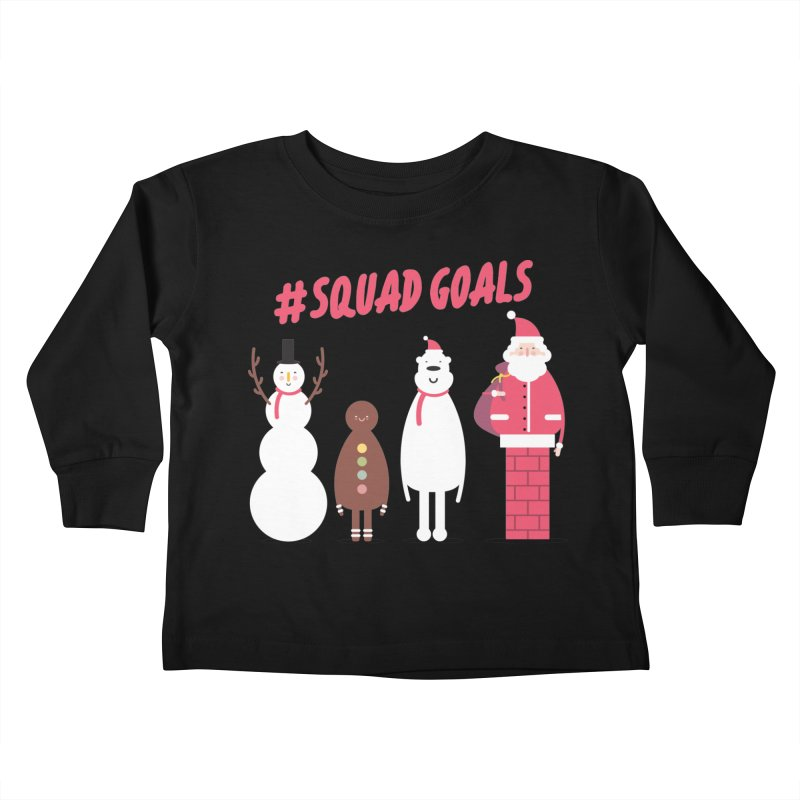 #SquadGoals Kids Toddler Longsleeve T-Shirt by Vintage Pop Tee's Artist Shop