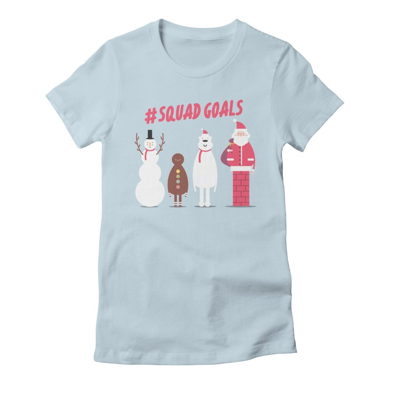 #SquadGoals Women's Fitted T-Shirt by Vintage Pop Tee's Artist Shop
