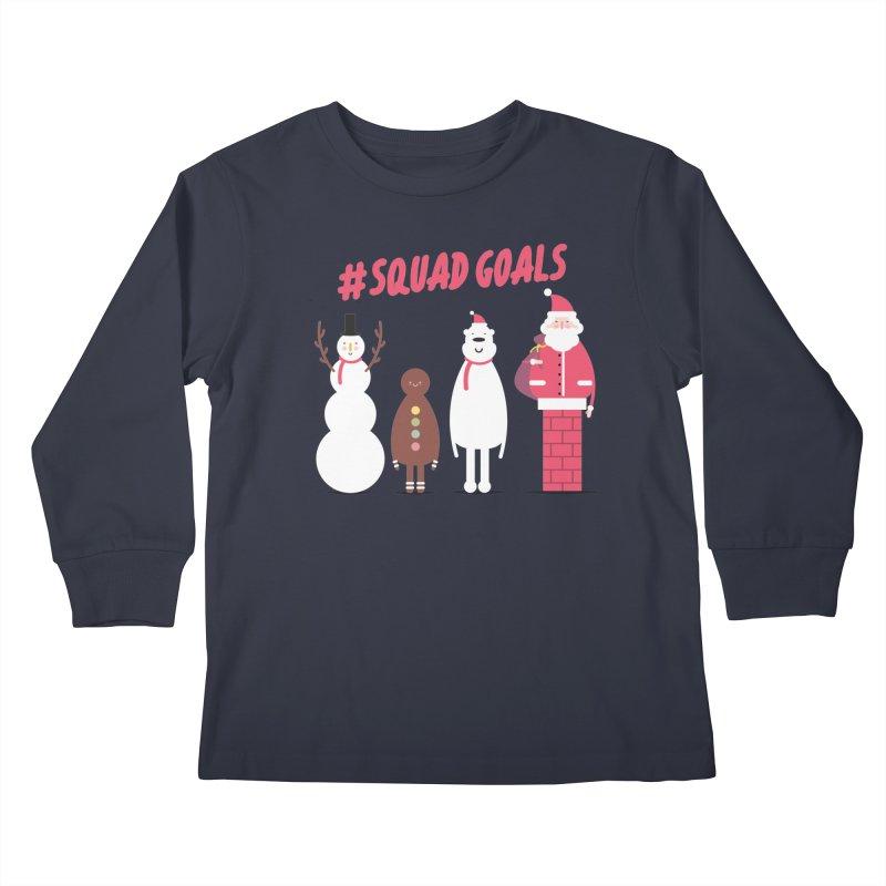#SquadGoals Kids Longsleeve T-Shirt by Vintage Pop Tee's Artist Shop