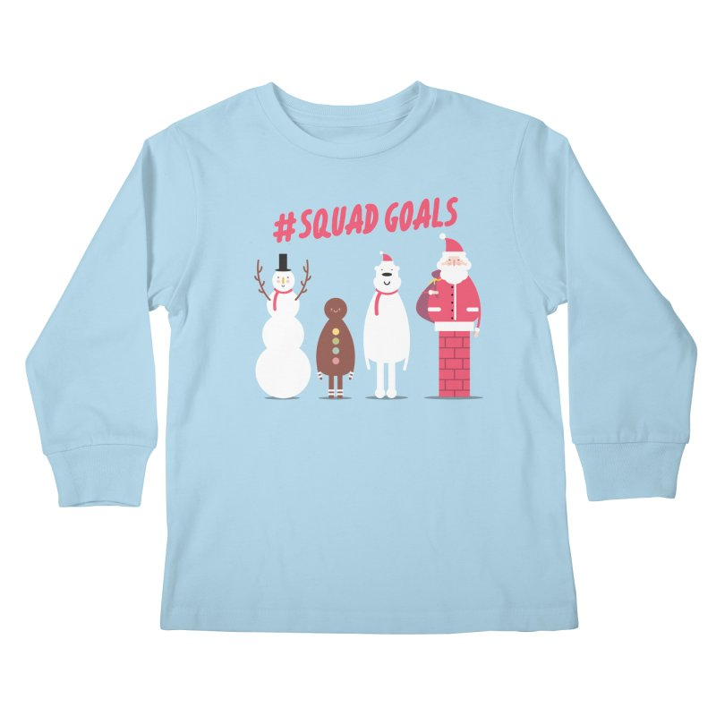 #SquadGoals Kids Longsleeve T-Shirt by Vintage Pop Tee's Artist Shop
