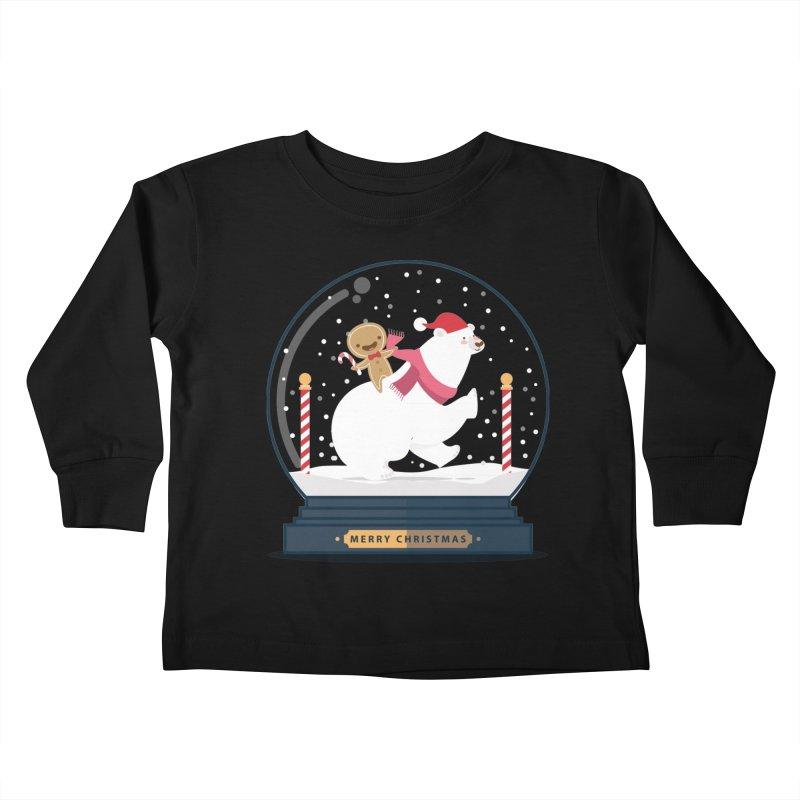 GINGER RIDER Kids Toddler Longsleeve T-Shirt by Vintage Pop Tee's Artist Shop
