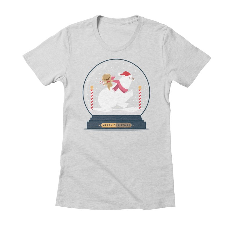 GINGER RIDER Women's Fitted T-Shirt by Vintage Pop Tee's Artist Shop