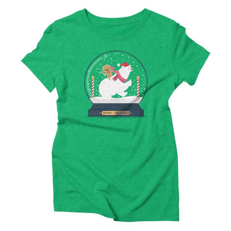 GINGER RIDER Women's Triblend T-Shirt by Vintage Pop Tee's Artist Shop