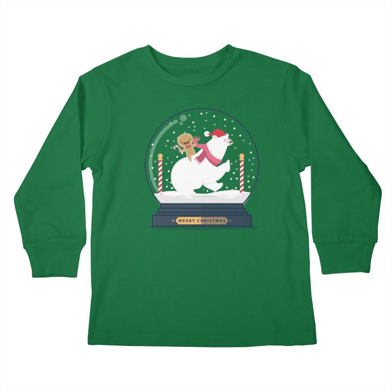 GINGER RIDER Kids Longsleeve T-Shirt by Vintage Pop Tee's Artist Shop