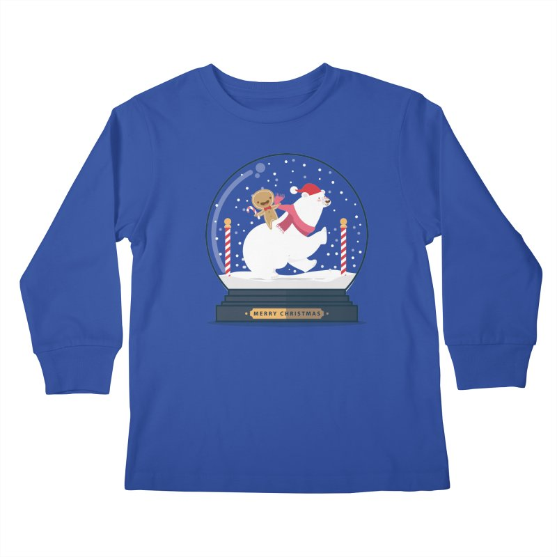 GINGER RIDER Kids Longsleeve T-Shirt by Vintage Pop Tee's Artist Shop