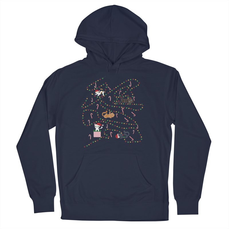 Cat Lights Women's French Terry Pullover Hoody by Vintage Pop Tee's Artist Shop