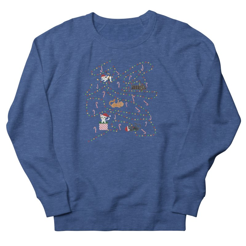 Cat Lights Women's Sweatshirt by Vintage Pop Tee's Artist Shop
