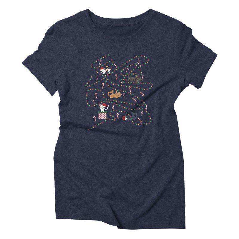 Cat Lights Women's Triblend T-Shirt by Vintage Pop Tee's Artist Shop