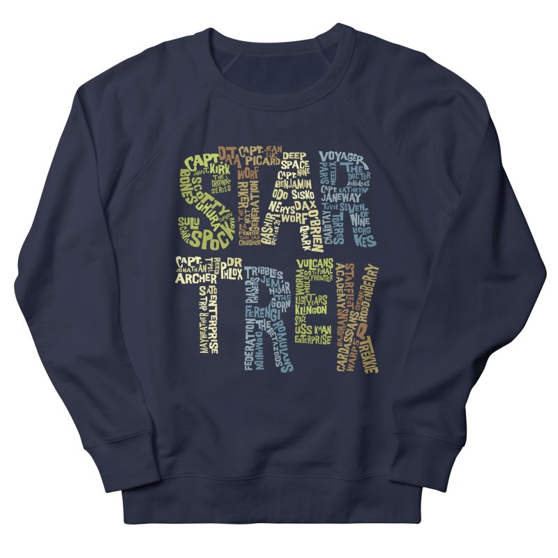 Star Trek Luv Men's Sweatshirt by Vintage Pop Tee's Artist Shop