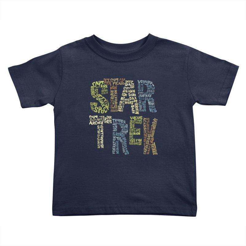 Star Trek Luv Kids Toddler T-Shirt by Vintage Pop Tee's Artist Shop