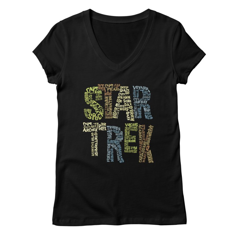 Star Trek Luv Women's V-Neck by Vintage Pop Tee's Artist Shop