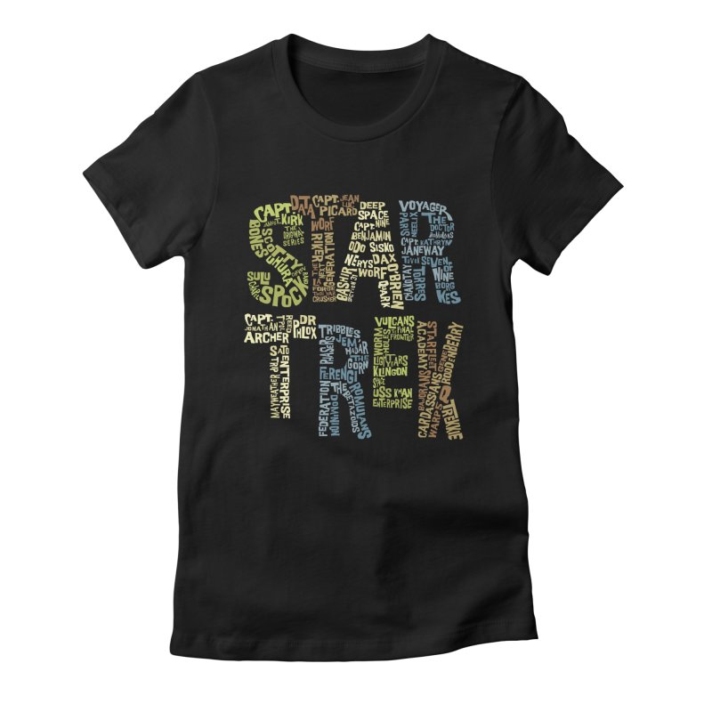 Star Trek Luv Women's Fitted T-Shirt by Vintage Pop Tee's Artist Shop
