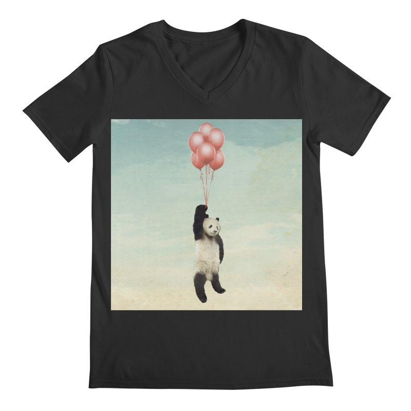 Pandaloon Men's V-Neck by vinzzep's Artist Shop