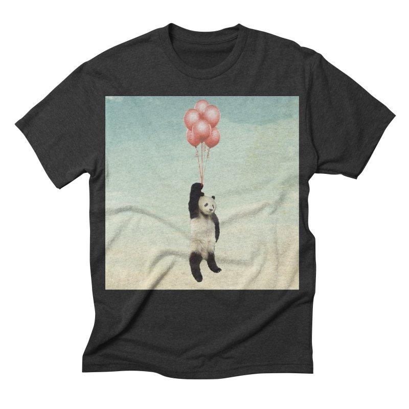 Pandaloon Men's Triblend T-shirt by vinzzep's Artist Shop