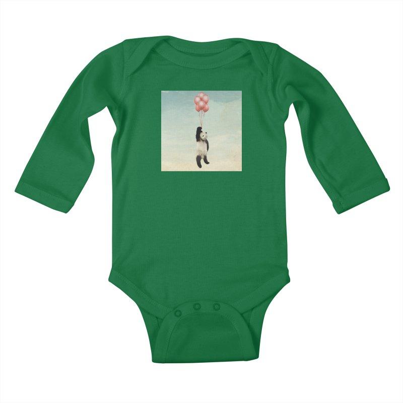 Pandaloon Kids Baby Longsleeve Bodysuit by vinzzep's Artist Shop