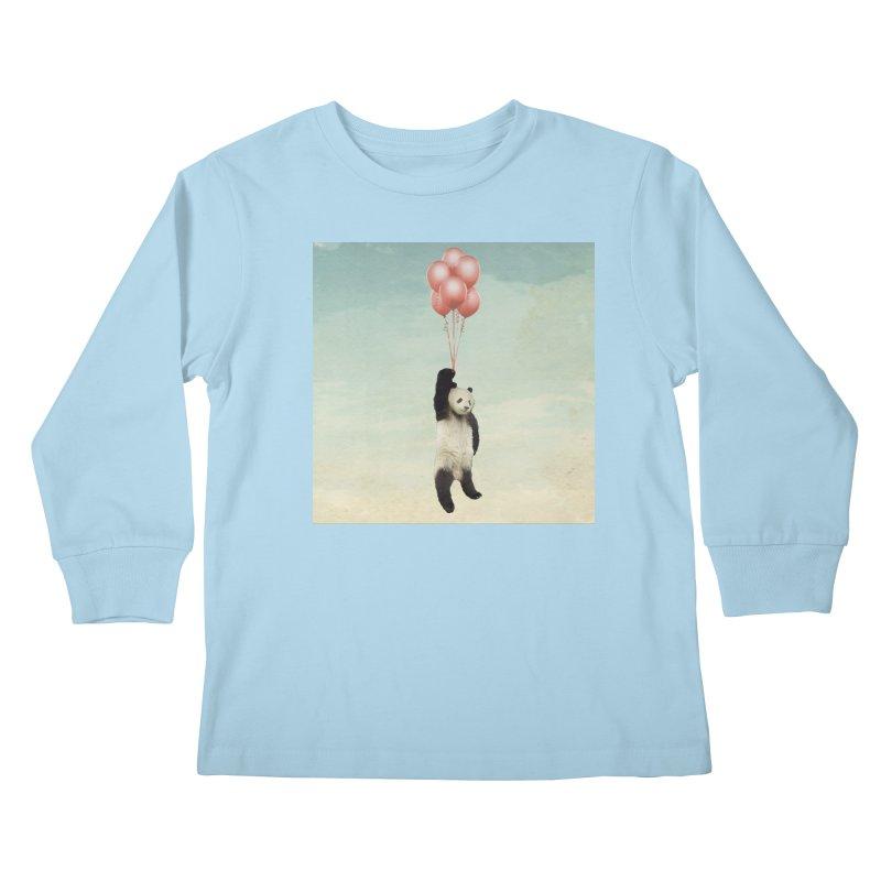 Pandaloon Kids Longsleeve T-Shirt by vinzzep's Artist Shop