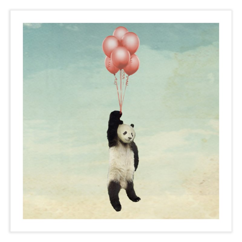 Pandaloon Home Fine Art Print by vinzzep's Artist Shop