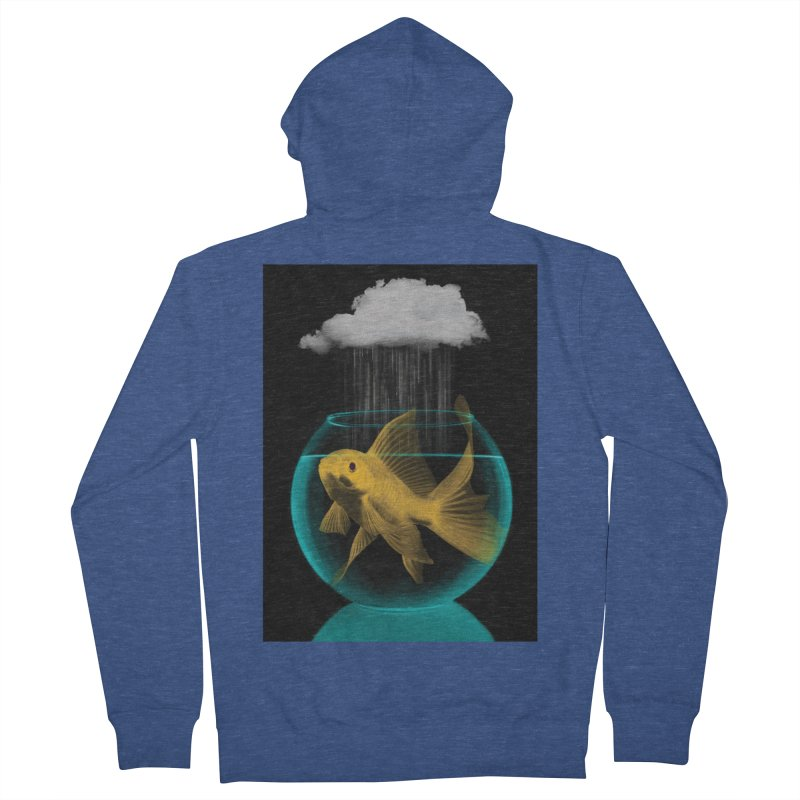 A Tight Spot in the Rain Men's Zip-Up Hoody by vinzzep's Artist Shop