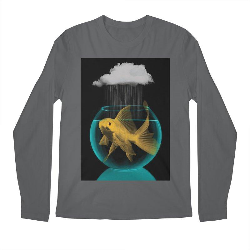 A Tight Spot in the Rain Men's Longsleeve T-Shirt by vinzzep's Artist Shop
