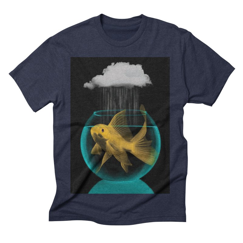 A Tight Spot in the Rain Men's Triblend T-shirt by vinzzep's Artist Shop