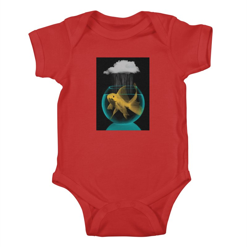 A Tight Spot in the Rain Kids Baby Bodysuit by vinzzep's Artist Shop
