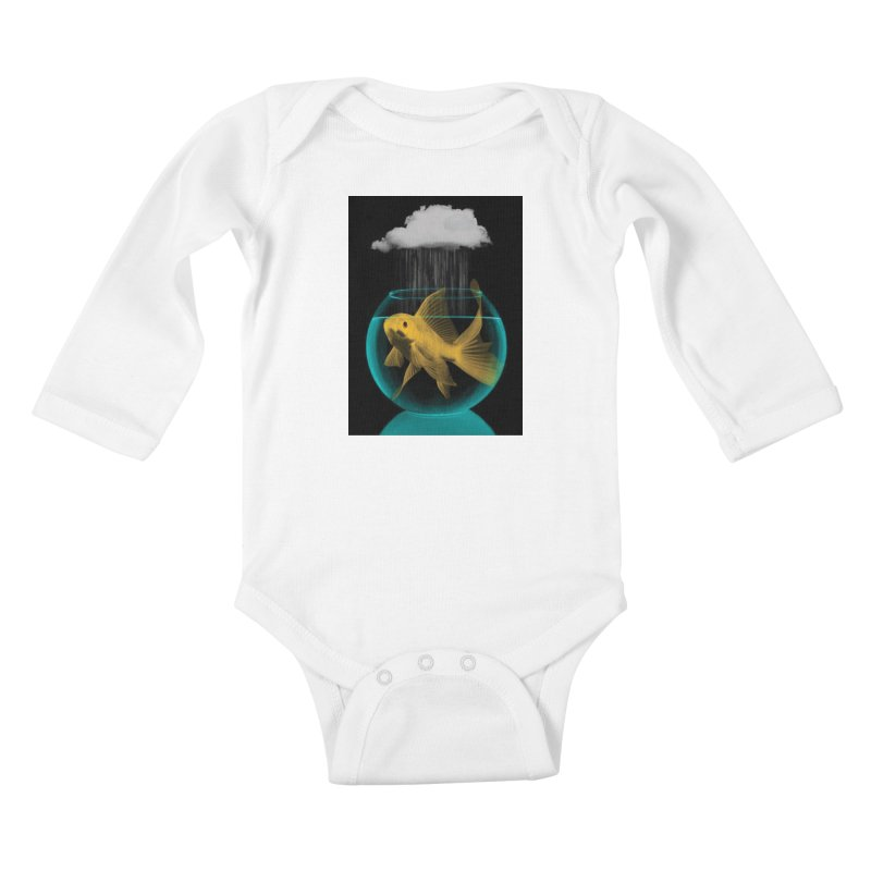 A Tight Spot in the Rain Kids Baby Longsleeve Bodysuit by vinzzep's Artist Shop