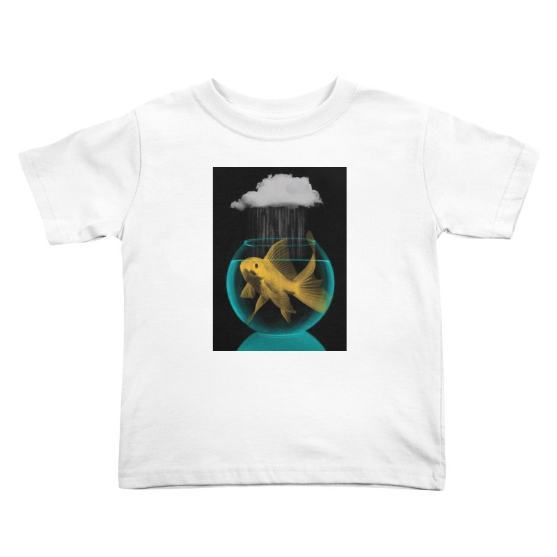 A Tight Spot in the Rain Kids Toddler T-Shirt by vinzzep's Artist Shop