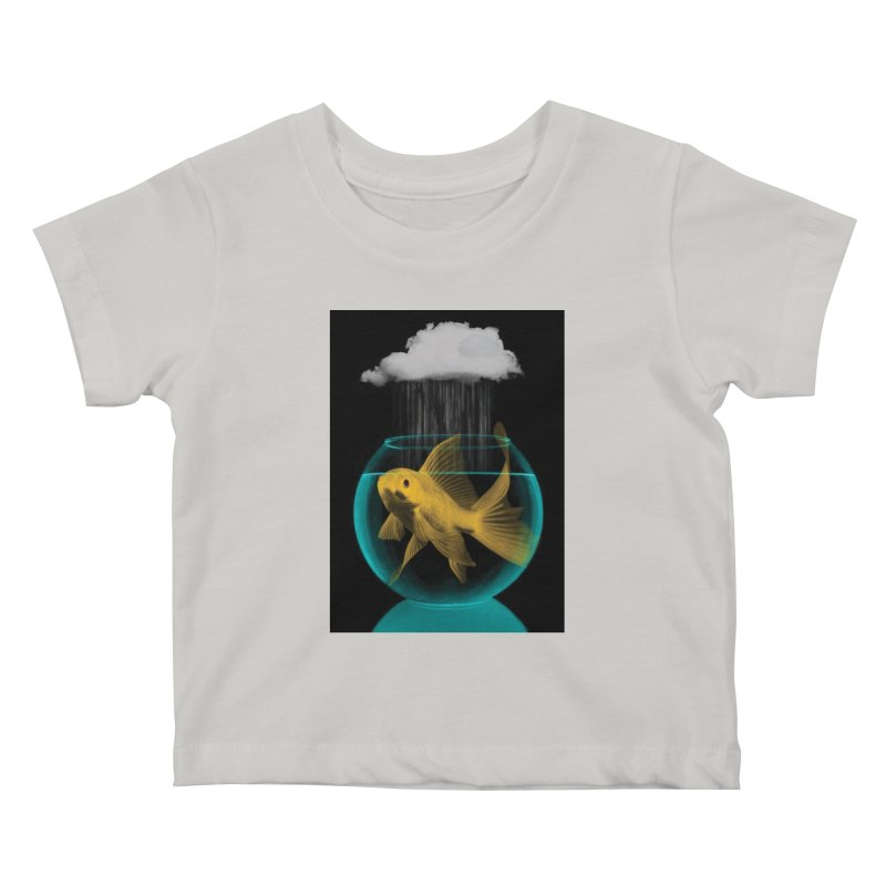 A Tight Spot in the Rain Kids Baby T-Shirt by vinzzep's Artist Shop