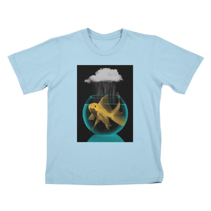 A Tight Spot in the Rain Kids T-shirt by vinzzep's Artist Shop