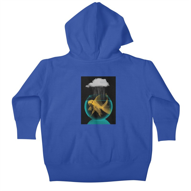 A Tight Spot in the Rain Kids Baby Zip-Up Hoody by vinzzep's Artist Shop