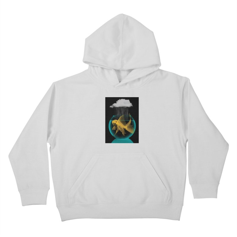 A Tight Spot in the Rain Kids Pullover Hoody by vinzzep's Artist Shop