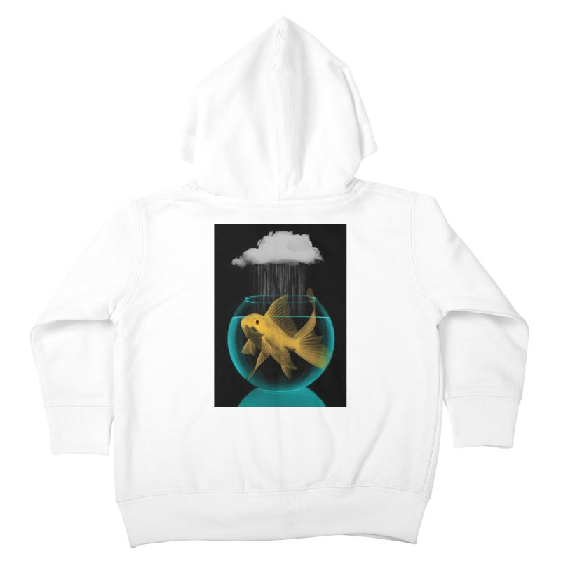 A Tight Spot in the Rain Kids Toddler Zip-Up Hoody by vinzzep's Artist Shop