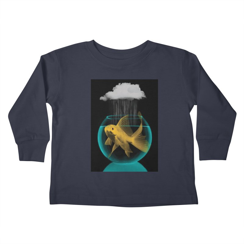 A Tight Spot in the Rain Kids Toddler Longsleeve T-Shirt by vinzzep's Artist Shop