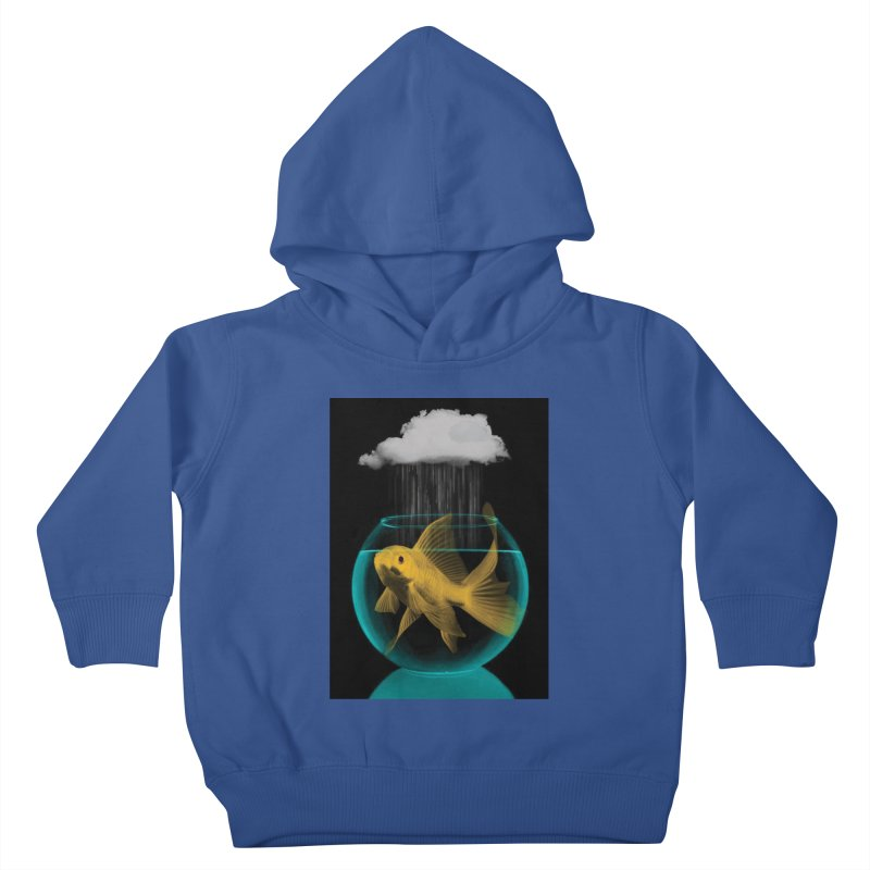 A Tight Spot in the Rain Kids Toddler Pullover Hoody by vinzzep's Artist Shop