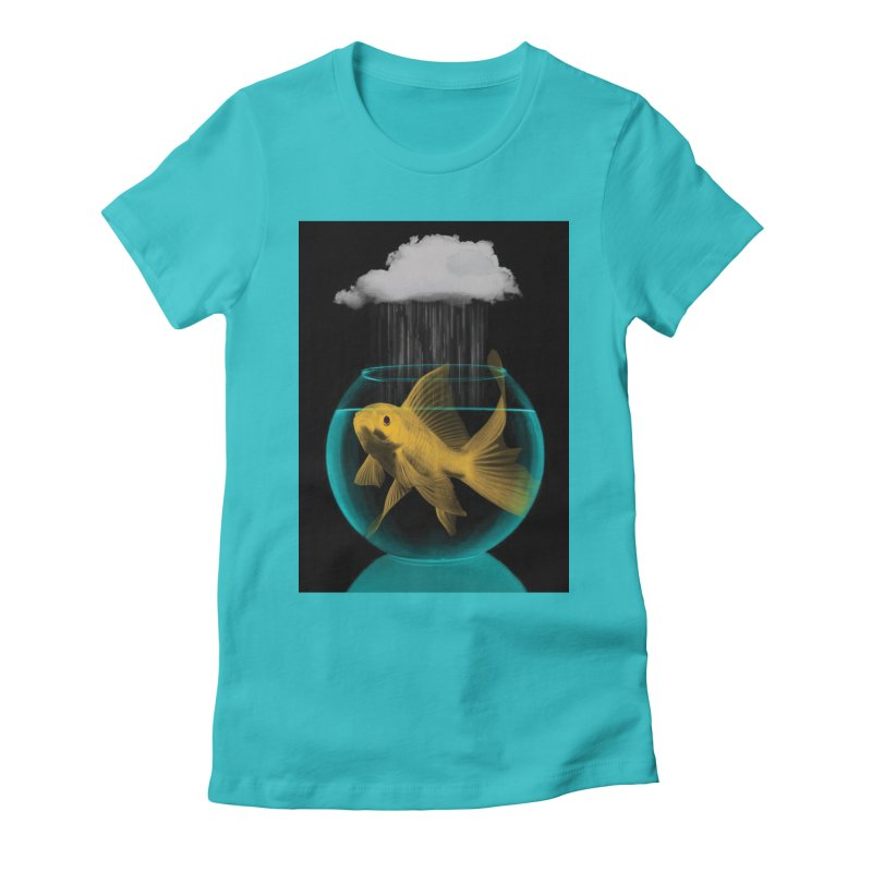 A Tight Spot in the Rain Women's Fitted T-Shirt by vinzzep's Artist Shop