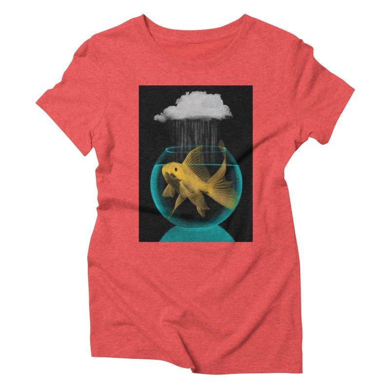A Tight Spot in the Rain Women's Triblend T-Shirt by vinzzep's Artist Shop