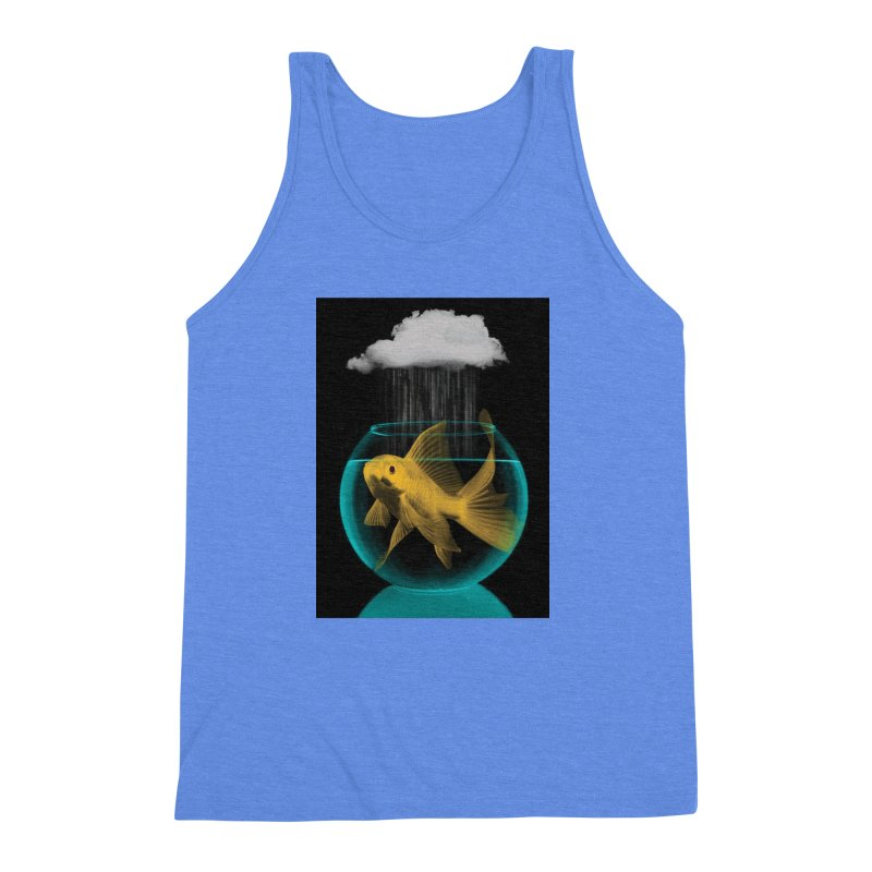A Tight Spot in the Rain Men's Triblend Tank by vinzzep's Artist Shop