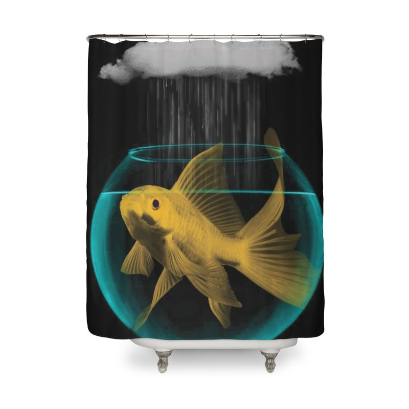 A Tight Spot in the Rain Home Shower Curtain by vinzzep's Artist Shop